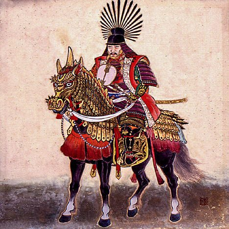 Toyotomi Hideyoshi on His Horse (via Wikimedia Commons)